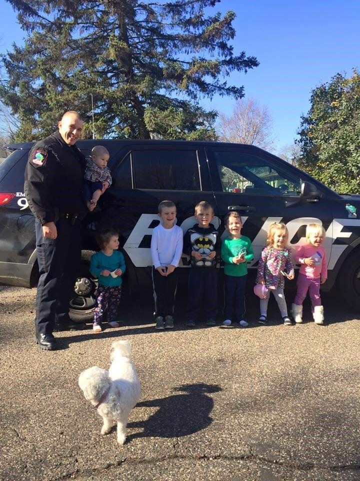 Officer Kober visits a local day care